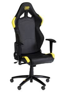 OMP RACING INC #HA777ENG OMP Office Chair MY2016 Yellow And Black
