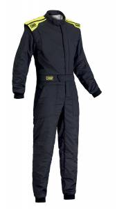OMP RACING INC #IA01828B18460 First S Suit My 2017 Black/Fluo Yel 60 X-Lrg