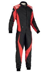 OMP RACING INC #IA0185907354 Tecnica Evo Suit MY2018 BLACK/RED SZ 54