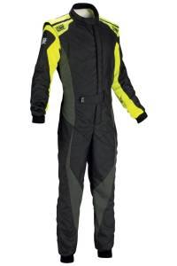 OMP RACING INC #IA0185917856 Tecnica Evo Suit MY2018 BLACK/YELLOW SZ 56