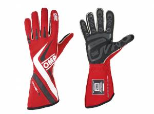 OMP RACING INC #IB/755E/R/L One-S Gloves MY2016 Red Lrg