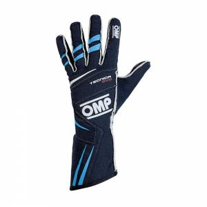 OMP RACING INC #IB/756E/BC/S TECNICA EVO Gloves Blue Cyan Sm