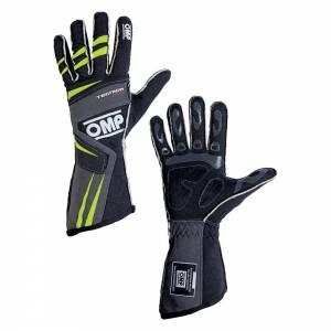 OMP RACING INC #IB/756E/NGI/S TECNICA EVO Gloves Antrhaciteyell Sm
