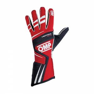 OMP RACING INC #IB/756E/R/S TECNICA EVO Gloves Red Sm