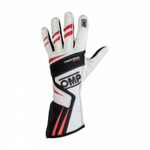 OMP RACING INC #IB/756E/W/S TECNICA EVO Gloves White Sm