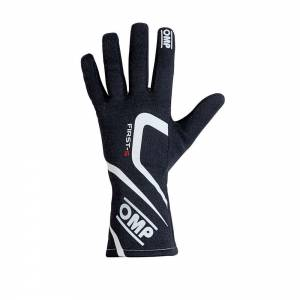 OMP RACING INC #IB/761E/N/S FIRST-S Gloves Black Size Sm