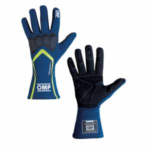OMP RACING INC #IB/764/BGI/XL TECNICA-S Gloves Blue Yellow XL