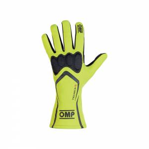 OMP RACING INC #IB/764/GF/XL TECNICA-S Gloves Fluo Yellow XL