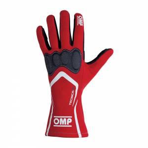 OMP RACING INC #IB/764/R/XL TECNICA-S GLOVES RED SIZ XL