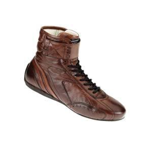 OMP RACING INC #IC/78201445 CARRERA High Boots Dark Brown Leather 45
