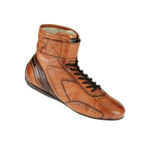 OMP RACING INC #IC/78201544 CARRERA High Boots Light Brown Leather 44