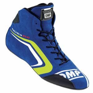 OMP RACING INC #IC/803E04445 TECNICA EVO Shoes Blue Yellow 45