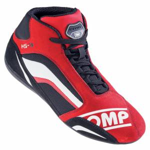 OMP RACING INC #IC81306047 KS-3 Kart Shoe Red And Black 47
