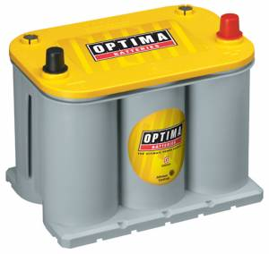 OPTIMA BATTERY #8040-218 Battery Yellow Top 620cc a/770ca 75/35 Top Post