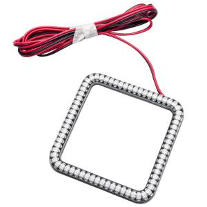ORACLE LIGHTING #5776-005 3in Off Road LED Light Square w/Halo Amber