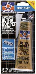 PERMATEX #81878 Ultra Copper Gasket Maker 3oz Carded Tube