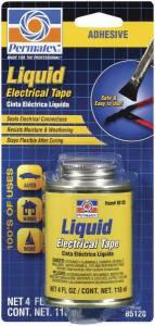 PERMATEX #85120 Liquid Electric Tape 4oz Can w/Brush