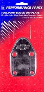 PROFORM #141-210 SBC Bowtie Fuel Pump Block Off Plate