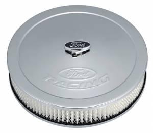 PROFORM #302-350 Ford Racing Air Cleaner Kit Chrome Raised Logo