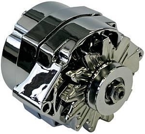 PROFORM #66445.6N 60-Amp Chrome Alternator - GM 1-Wire