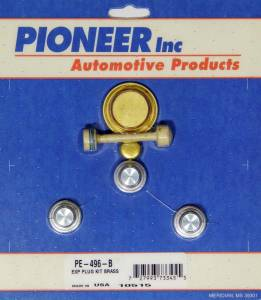 PIONEER #PE-496-B Chevy LS Freeze Plug Kit Brass