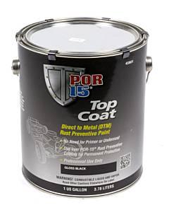 POR-15 #45801 Top Coat Gloss Black 1 Gallon