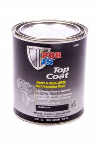 POR-15 #45804 Top Coat Paint Gloss Black Quart