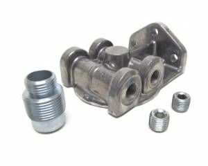 PERMA-COOL #4795 Oil Filter Mount  1in-12 Ports: 1/4in NPT  L/R