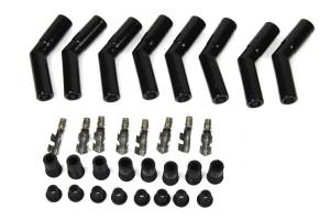 PERTRONIX IGNITION #8563HT-8 Ceramic Spark Plug Boot Kit 45-Deg 8pk Black