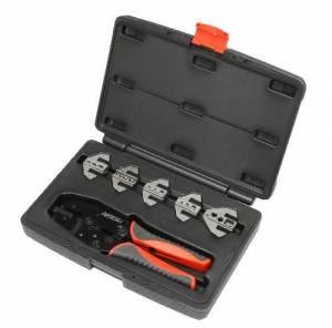 PERTRONIX IGNITION #T3001 Ratchet Crimp Tool Kit 6-Piece Quick Change Kit
