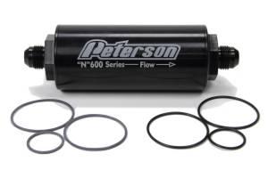 PETERSON FLUID #09-0611 Fuel Filter -8AN 45 Mic.