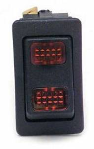 PAINLESS WIRING #80401 Rocker Switch Red