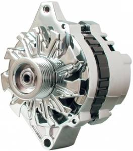 POWERMASTER #37803 Chrome 140 Amp Small Delco Alternator