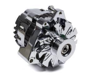 POWERMASTER #37861 Chrome GM CS130 140 Amp Alternator