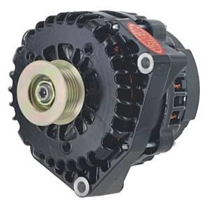 POWERMASTER #58237 220amp Alternator GM AD 244 Style w/Black Finish