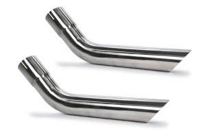 PYPES PERFORMANCE EXHAUST #EVT58 Exhaust Tips Slip Fit 2.5in Pair (Long)