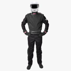 PYROTECT #110101 Suit Black Small 1Lyr One Piece SFI-1