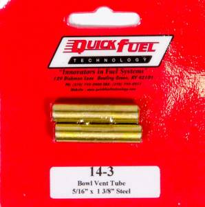 QUICK FUEL TECHNOLOGY #14-3QFT Vent Tubes (2pk) 5/16 x 1-3/8