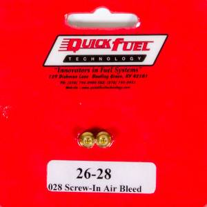 QUICK FUEL TECHNOLOGY #26-80QFT Air Bleeds - 10/32 .080