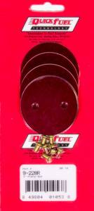 QUICK FUEL TECHNOLOGY #9-228RQFT 2in Throttle Plates Red Anodized (4 Pack)