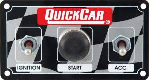 QUICKCAR RACING PRODUCTS #50-031 Ignition Panel Single