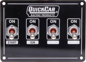 QUICKCAR RACING PRODUCTS #50-740 Ignition Panel Extreme 4 Switch w/ Pigtail
