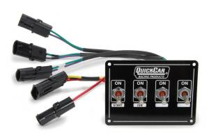 QUICKCAR RACING PRODUCTS #50-7414 Ignition Panel Extreme 4 4-Switch Dual Mag. Pckup