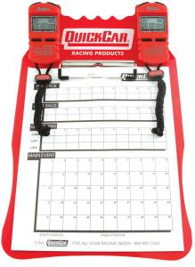 QUICKCAR RACING PRODUCTS #51-051 Clipboard Timing System Red