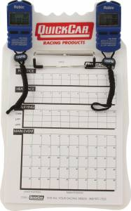 QUICKCAR RACING PRODUCTS #51-054 Clipboard Timing System White