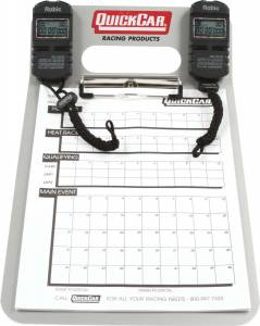 QUICKCAR RACING PRODUCTS #51-070 Dual Timing Clipboard