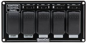 QUICKCAR RACING PRODUCTS #52-863 Ignition Panel w/ Rocker Switches & Fuses