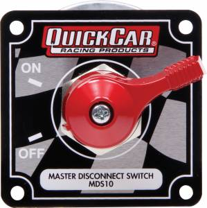 QUICKCAR RACING PRODUCTS #55-008 Master Disconnect High Amp 4 Post Flag Plate