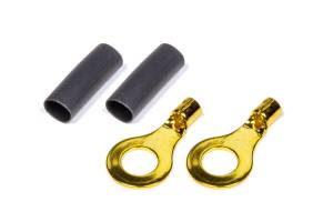 QUICKCAR RACING PRODUCTS #57-478 Ring Terminal 1/4 14-16 GA. Pair w/Heat Shrink
