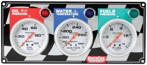 QUICKCAR RACING PRODUCTS #61-0281 3 Gauge Panel OP/WT/FP Ultra-Lite